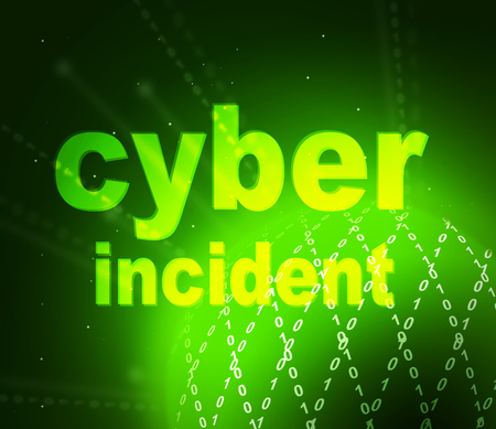 Cyber Incident Words Represent Computer Vulnerability Crime And Threat. Virtual Cybercrime Breach Detected - 3d Illustration