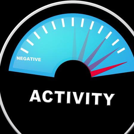 Active Versus Passive Guage Means Proactive Strategy Or Lazy Passive Concept 3d Illustration