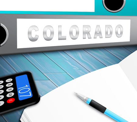 Colorado Property Folder Represents Real Estate Or Purchasing Investment. United States Realty Developments - 3d Illustration