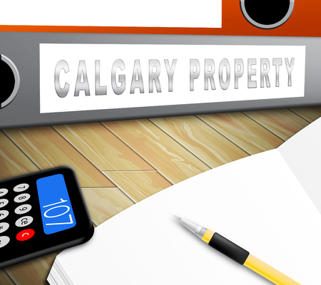 Calgary Real Estate Folder Shows Property For Sale Or Rent In Alberta. Investment Agents Or Brokers Symbol 3d Illustration 版權商用圖片