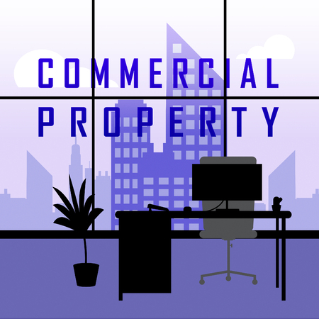 Commercial Real Estate Office Represents Property Leasing Or Realestate Investment. Includes Offices And Land Leasing - 3d Illustration