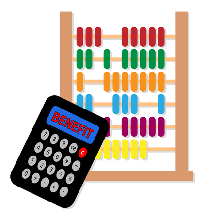 Benefit Versus Cost Calculator Means Value Gained Over Money Spent. Calculation Is Earnings Vs Expense - 3d Illustration