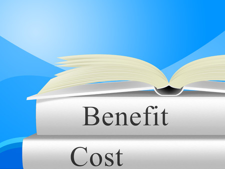 Benefit Versus Cost Book Means Value Gained Over Money Spent. Calculation Is Earnings Vs Expense - 3d Illustration