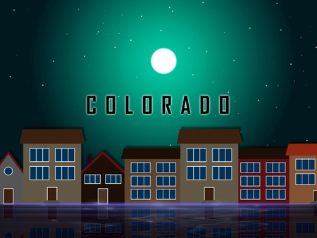 Colorado Real Estate Street Represents Buying Property In Denver United States. Ownership Renting Or Investment Purchase - 3d Illustration