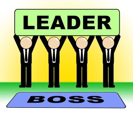 Boss Vs Leader Notice Means Leading A Team Better Than Managing. Encouraging Confident Strategy And Strong Concepts 3d Illustration Stock Photo