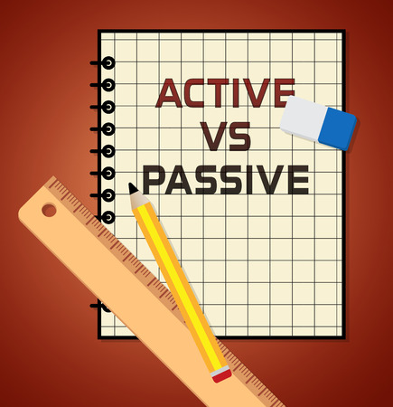Passive Or Active Note Means Aggressive Energetic Vs Indecision And Lazy Action 3d Illustration Фото со стока