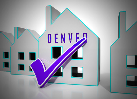 Denver Real Estate Icons Illustrates Colorado Property And Investment Housing. Realty Purchasing And Selling - 3d Illustration