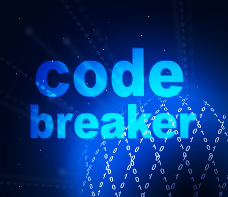 Code Breaker Digital Design Demonstrates Cryptography And Access Decoding. Figure Out Secret Code Or Encrypted Data - 3d Illustration