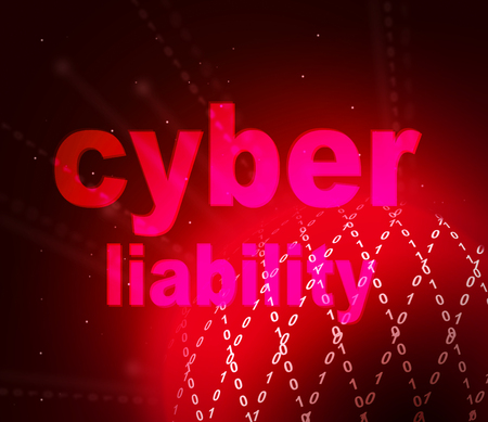 Cyber Liability Insurance Words Represent Data System Protection And Assurance. Virtual Network Cover And Indemnity - 3d Illustration