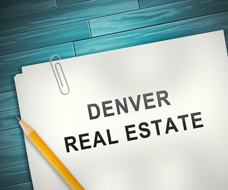 Denver Real Estate Contract Illustrates Colorado Property And Investment Housing. Realty Purchasing And Selling - 3d Illustration
