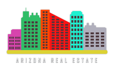Arizona Real Estate City Represents Purchasing Or Buying Through A Broker In Az Usa 3d Illustration Reklamní fotografie