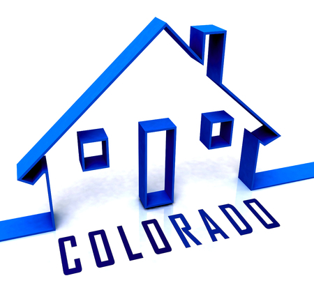 Colorado Real Estate House Represents Buying Property In Denver United States. Ownership Renting Or Investment Purchase - 3d Illustration