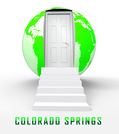 Colorado Springs Property Globe Represents Real Estate Or Purchasing Investment. United States Realty Developments - 3d Illustration Stock Photo