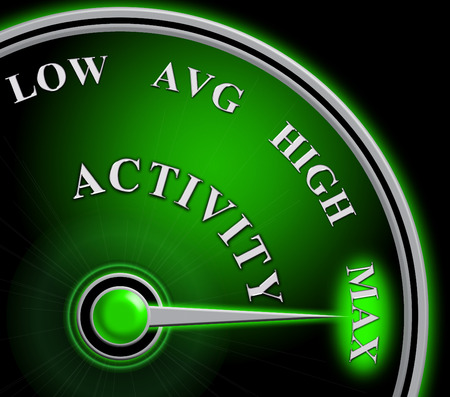 Active Versus Passive Guage Showing Proactive Strategy Or Lazy Passive Concept 3d Illustration Stock Photo