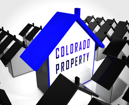Colorado Property Icon Represents Real Estate Or Purchasing Investment. United States Realty Developments - 3d Illustration