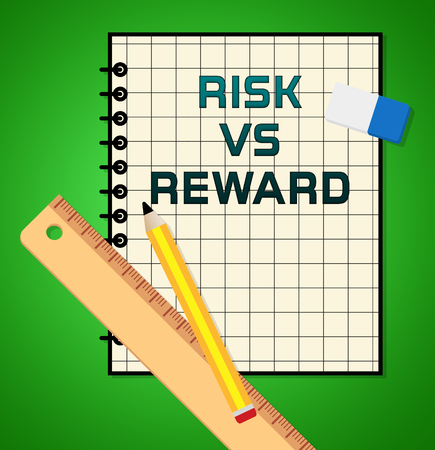 Risk Versus Reward Analysis Report Contrasts The Cost Of A Decision And The Payoff. Gambling On The Return On Investment Yield - 3d Illustration