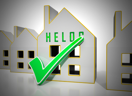 Home Equity Line Of Credit Symbol Representing Capital Release From Property. Owner Fund Or Loan From Realty Asset - 3d Illustration