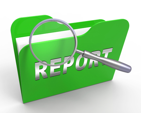Impact Report File Shows A Summary Or Writing Of Evidence And Results 3d Illustration. Business Data Or Political Information 스톡 콘텐츠 - 120355236