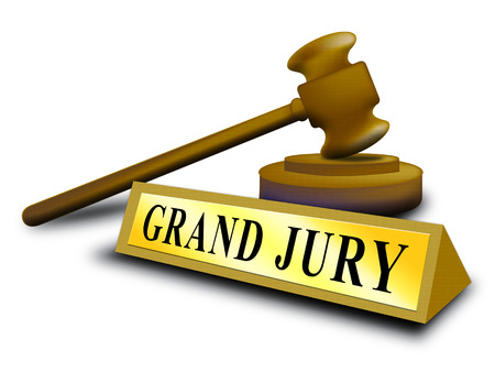 Grand Jury Court Gavel Shows Government Trials To Investigate Injustice 3d Illustration. Courtroom Inquiry And Legal Litigation Imagens