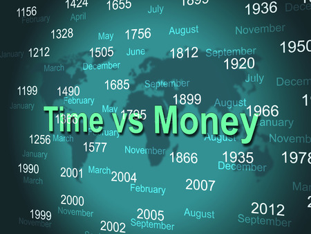 Time Versus Money Dates Contrasting Earnings With Expenses. Your Financial Future And Making Enough Cash To Retire - 3d Illustration