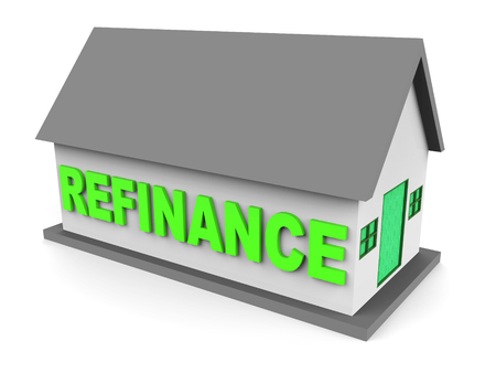 Refinance Your Home House Representing Home Equity Line Of Credit. Finance From Ownership Of Houses Or Apartments - 3d Illustration