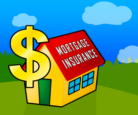 Private Mortgage Insurance Icon Depicting House Or Apartment Coverage. Property Indemnity And Life Assurance - 3d Illustration