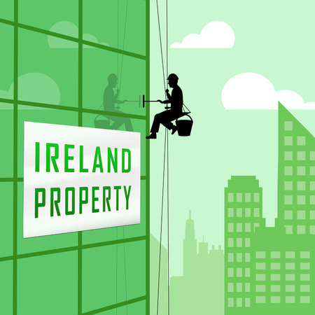 Ireland Property Or Real Estate Building Depicts Buying Or Renting. Realty And Development In Eire - 3d Illustration