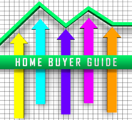 Home Buyer Guide Graph Illustrates Advice On Purchasing Property. Guidebook To Investment And Value Decisions - 3d Illustration