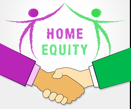 Home Equity Line Of Credit Icon Representing Capital Release From Property. Owner Fund Or Loan From Realty Asset - 3d Illustration