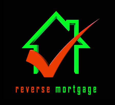 Reverse Mortgage Financing House Depicts Line Of Credit From Home Ownership. Inverse Loan To Obtain Cash - 3d Illustration Stock fotó