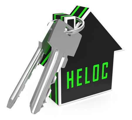 Home Equity Line Of Credit Key Representing Capital Release From Property. Owner Fund Or Loan From Realty Asset - 3d Illustration