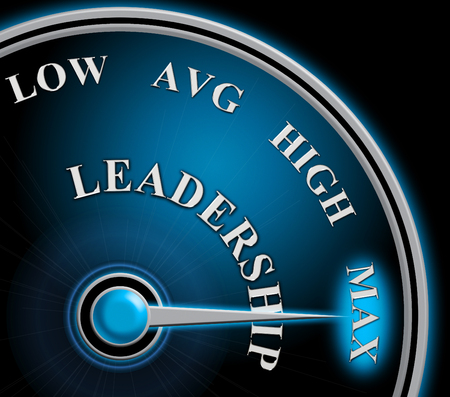 Leader Versus Manager Gauge Depicts Supervising Vs Leading. Entrepreneur Vision Compared With Following Rules And Systems - 3d Illustration