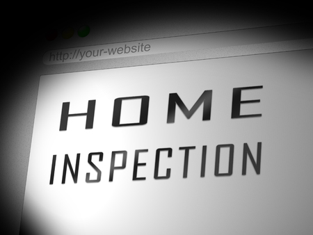 Home Inspection Report Website Shows Property Condition Audit. Analysis Of Real Estate Findings To Evaluate Cost - 3d Illustration