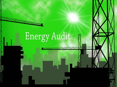 Home Energy Audit Apartments Show Saving Power And Reducing Costs. Conservation Of Electricity And Heat Evaluation - 3d Illustration