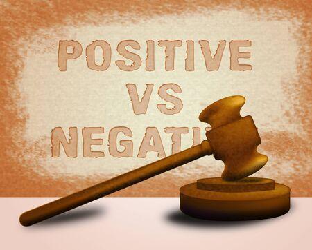 Positive Vs Negative Icon Depicting Reflective State Of Mind. Motivation And Optimism Versus Pessimism - 3d Illustration Stock Photo