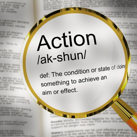 Take action concept icon meaning motivation and urgency to move forward. Proactive process to deliver results - 3d illustration Stock Photo