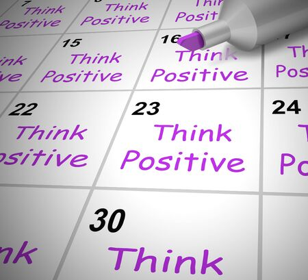 Think positive happy thoughts or Wishful Thinking. Positive and upbeat attitude encourages a confident mindset - 3d illustration