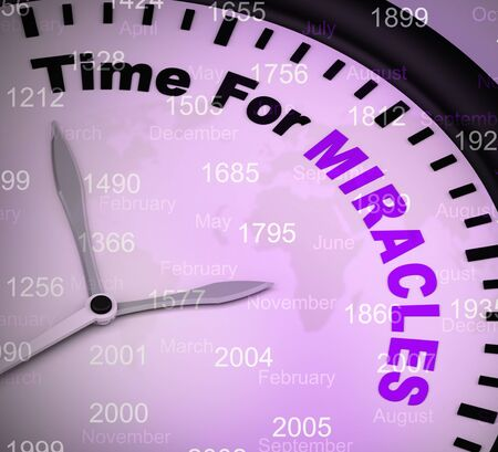 Time for miracles concept icon shows miraculous wonders. Divinations and amazing wonderment - 3d illustration
