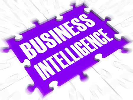 Business intelligence and analytics is the process of excellent management. Using data and information for successful trading - 3d illustration