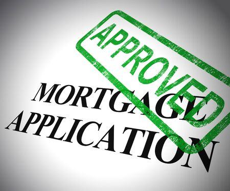 Mortgage application approved form means getting finance for property. Ownership of real estate agreed - 3d illustration