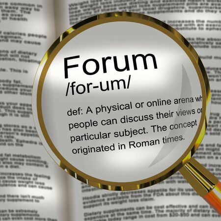 Forum concept icon means platform on the internet or meeting place. For networking and connecting to a group - 3d illustration