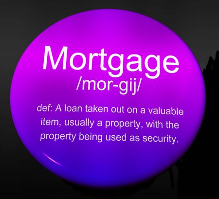 Mortgage Rates Definition For Buy To Let Morgage Or Home Ownership Finance. Loan Borrowing And Banking Plan - 3d Illustration Reklamní fotografie - 124891963
