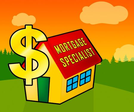 Mortgage Specialist Officer Icon Meaning Expert Financial Adviser Or Broker. Experienced Home Loan Professional - 3d Illustration