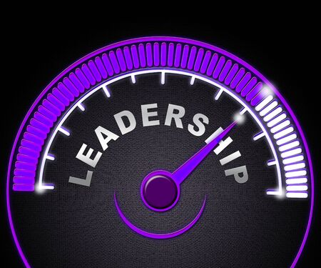 Leader Vs Manager Guage Demonstrates Managing Versus Leading. Professional Leadership And Strategy Against Just Supervising - 3d Illustration