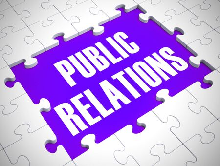 Public relations Concept icon means press notice or broadcast announcement. Advertising and campaign on social media - 3d illustration 写真素材