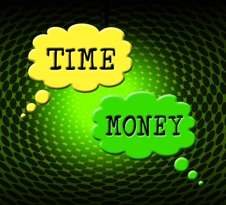 Time Versus Money Words Contrasting Earnings With Expenses. Your Financial Future And Making Enough Cash To Retire - 3d Illustration Reklamní fotografie - 124892102
