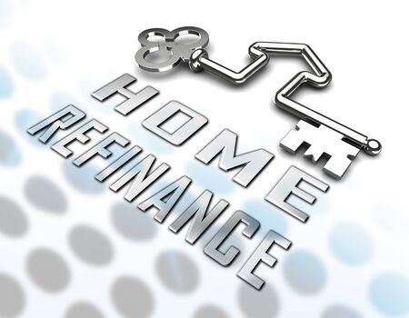 Refinance Your Home Key Representing Home Equity Line Of Credit. Finance From Ownership Of Houses Or Apartments - 3d Illustration