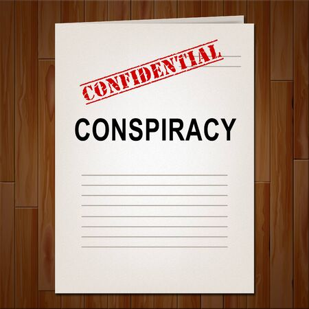 Conspiracy Theory Report Representing American Collusion With Russians 3d Illustration. Secret Meetings To Commit Treason Against The Usa