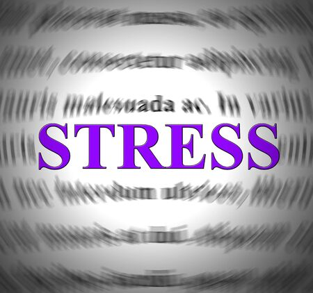 Stress like panic attack shows terror and fear. High emotions with anxiousness and hyperventilation - 3d illustration Фото со стока - 124892288