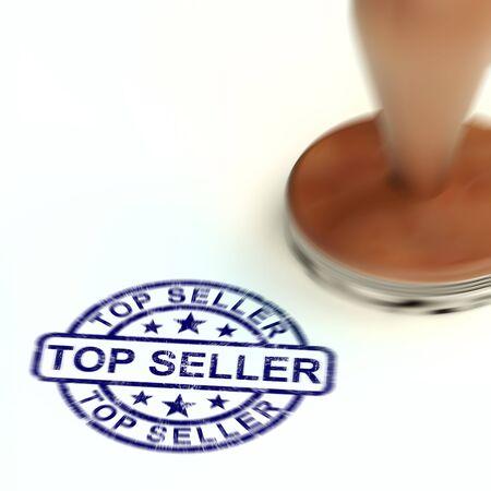 Top sellers stamp means Blockbuster or smash it. Best seller book or inspiring publication - 3d illustration